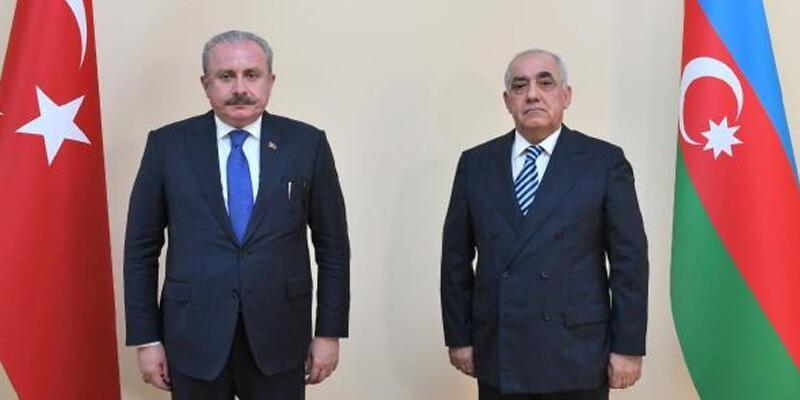 TBMM Başkanı Şentop, Azerbaycan Başbakanı Ali Asadov ile görüştü