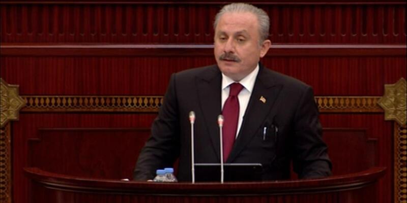 TBMM Başkanı Şentop, Azerbaycan Milli Meclisi'ne seslendi