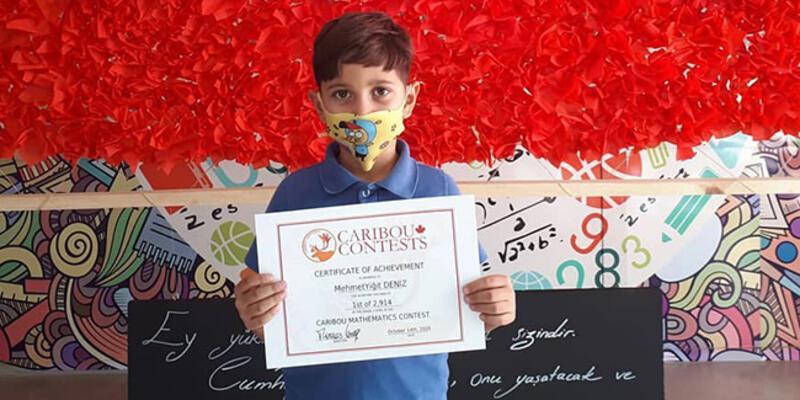 Küçük Mehmet Yiğit matematikte dünya birincisi oldu