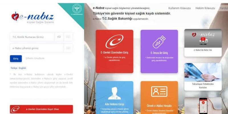 e-Nabız giriş nasıl yapılır? E Nabız kayıt olma işlemi! www.turkiye.gov.tr giriş işlemleri! E-Nabız şifresi nasıl alırım?