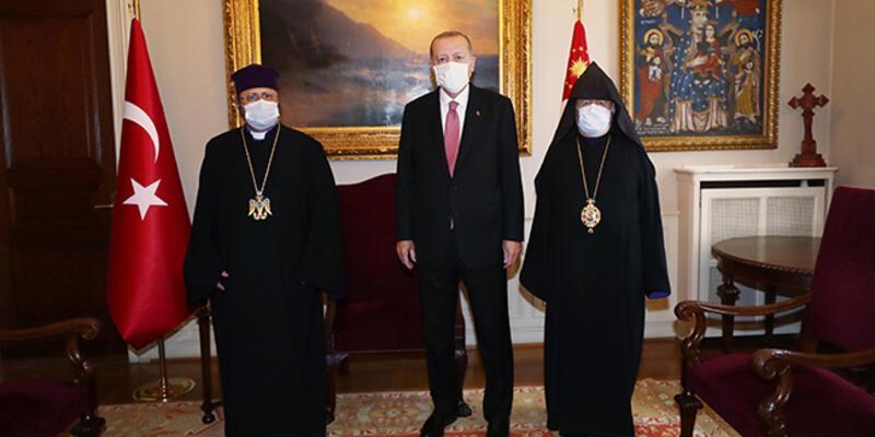 Cumhurbaşkanı Erdoğan, Patrik Sahak Maşalyan ile görüştü