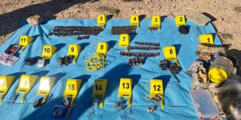 PKK'lı teröristlerin kullandığı depolar imha edildi