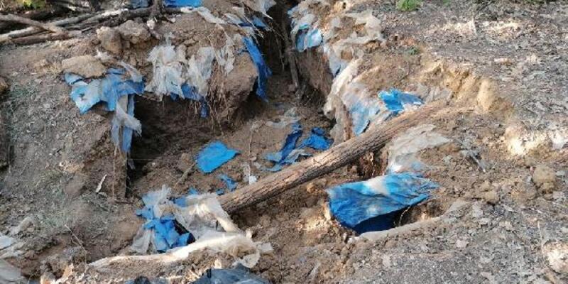 2 sığınakta PKK'ya ait patlayıcı ele geçirildi