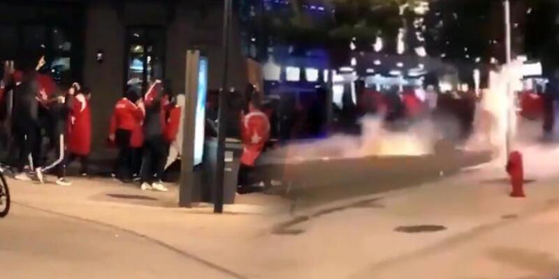 Son dakika... Fransa'da Ermeni eylemcileri protesto eden Türklere polis müdahalesi