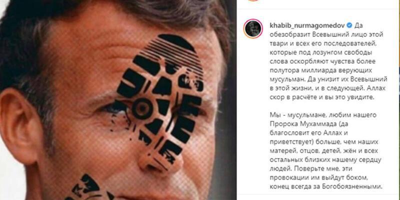 Nurmagomedov, Macron'a ayetle cevap verdi!