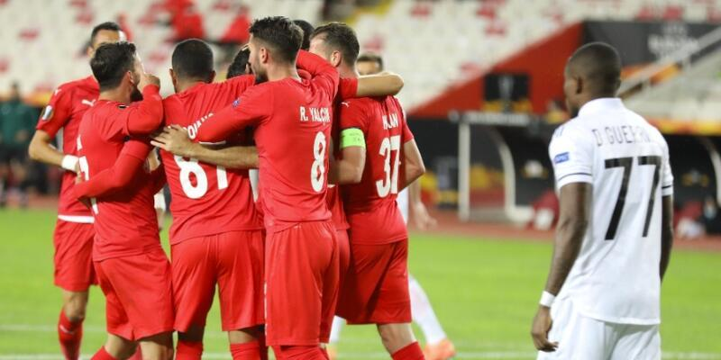 Sivasspor grupta ilk kez kazandı