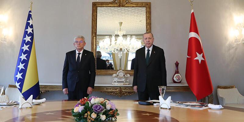 Cumhurbaşkanı Erdoğan, Caferoviç ile görüştü