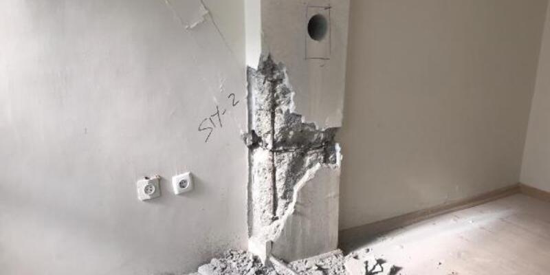 Binalarda deprem testi kolonlarda başlıyor