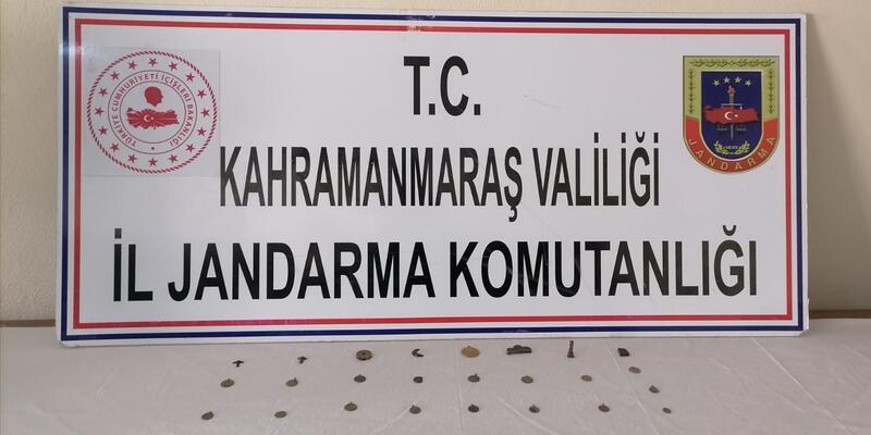 Kahramanmaraş'ta 25 tarihi eser ele geçirildi