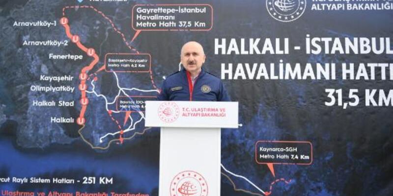 Karaismailoğlu Halkalı-İstanbul Havalimanı metro hattı şantiyesini inceledi