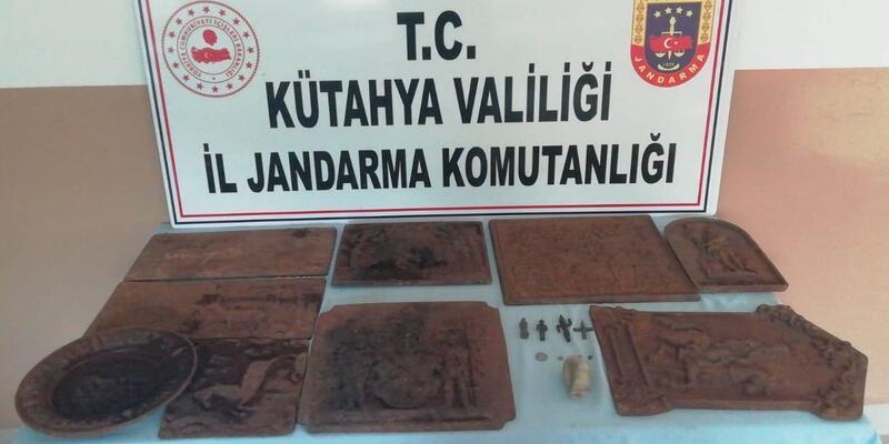 Kütahya'da tarihi eser kaçakçılığı operasyonu