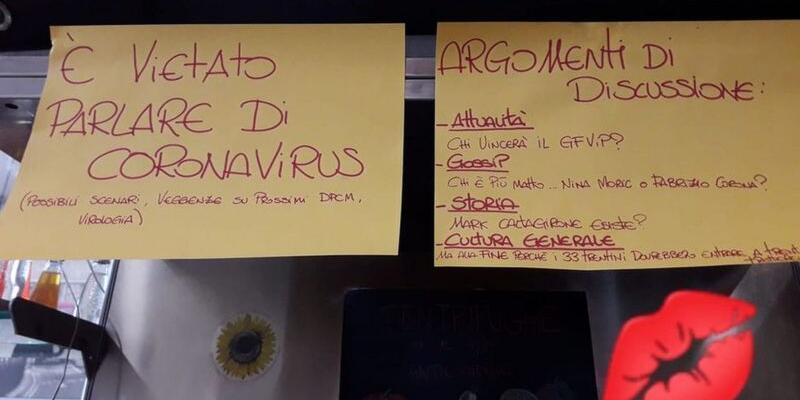 Roma'da bir barda koronavirüsten bahsetmek 'yasaklandı'