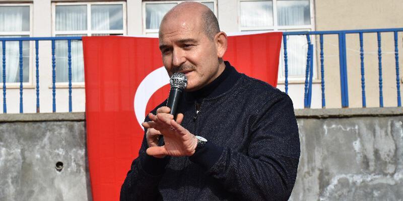 Bakan Soylu, Yüksekova'da esnafı ziyaret etti