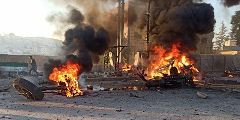 Afrin'de bombalı araç patlatıldı: 2 ölü, 17 yaralı