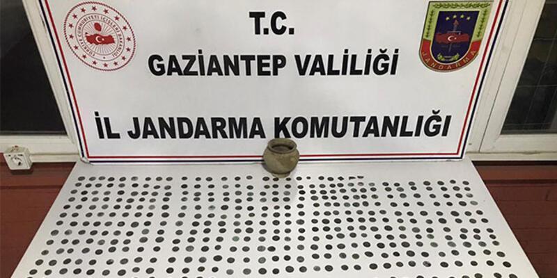 Gaziantep'te tarihi eser operasyonu: 2 gözaltı