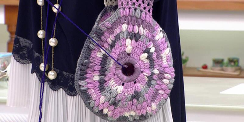 Çok kullanışlı yün örgü çanta yapımı