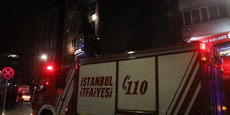 Son dakika haberi... Taksim'de otelde yangın!