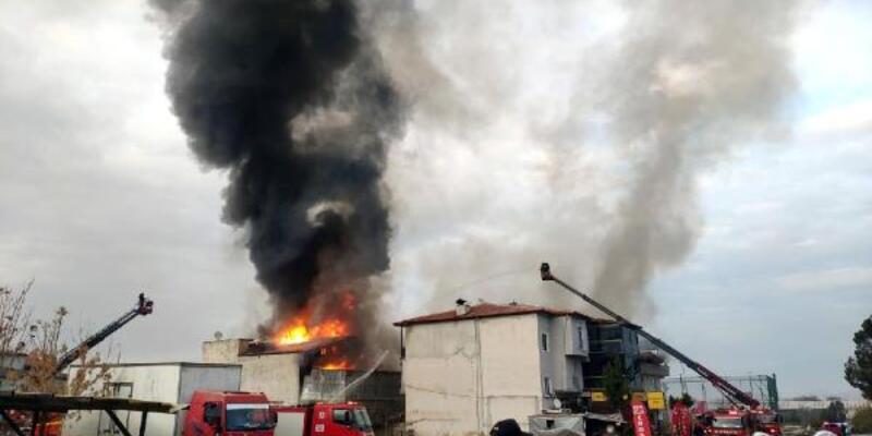 Deterjan fabrikasında yangın