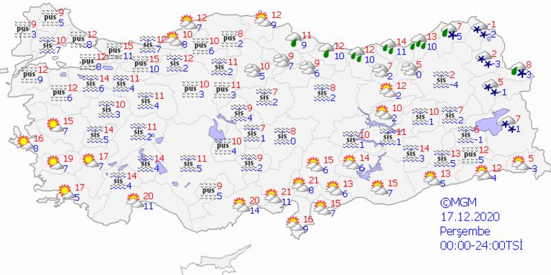 Bugün hava nasıl olacak? İstanbul'da hava nasıl? 17 Aralık 2020 Perşembe hava durumu tahminleri