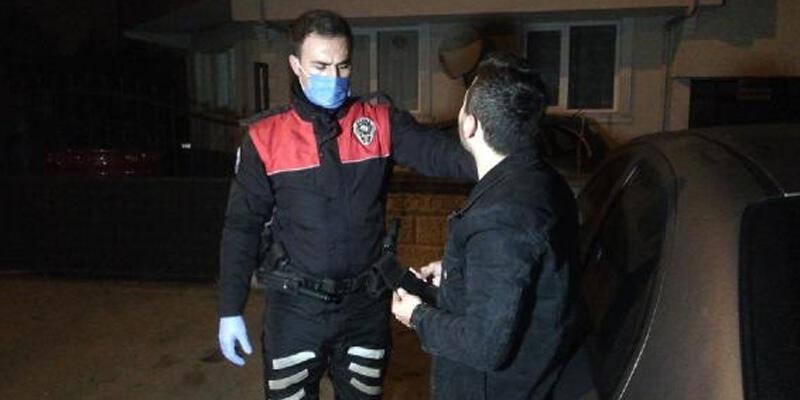 Kısıtlamada polisten kaçtı, diyaloglar gülümsetti