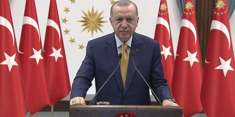 Cumhurbaşkanı Erdoğan, TOKİ tarafından Arnavutluk'ta yapılacak 522 konutun temel atma töreninde konuştu