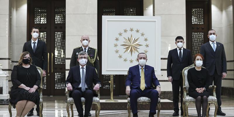 Cumhurbaşkanı Erdoğan, Slovakya Büyükelçisi'ni kabul etti