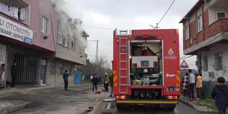 Doğalgaz sobası yangına sebep oldu; çocuklar dumandan etkilendi