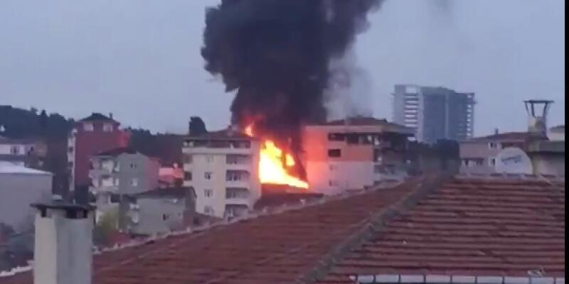 Sarıyer'de yangın! Alevler bir anda yükseldi
