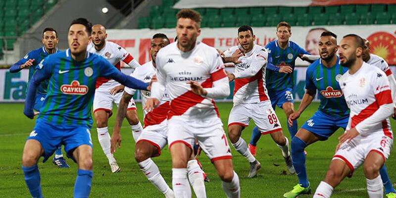 Çaykur Rizespor - Fraport TAV Antalyaspor: 2-1