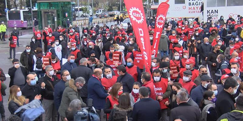 DİSK'ten Kadıköy'de asgari ücret eylemi