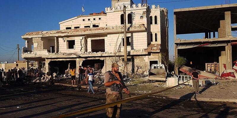 Suriye'deki bombalı terör saldırılarında 2 sivil yaralandı
