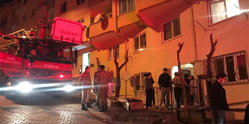 Bursa'da akşam saatlerinde korkutan yangın