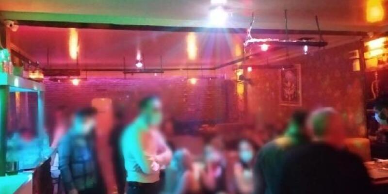 Kısıtlamada açık olan eğlence merkezinde 82 kişiye ceza