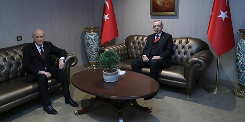 SON DAKİKA: Cumhurbaşkanı Erdoğan, Bahçeli ile görüştü