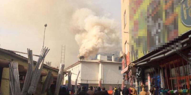 Askerlik şubesinde korkutan yangın