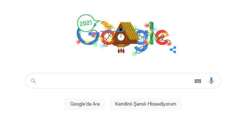 Yeni yılın ilk günü Google tarafından doodle yapıldı