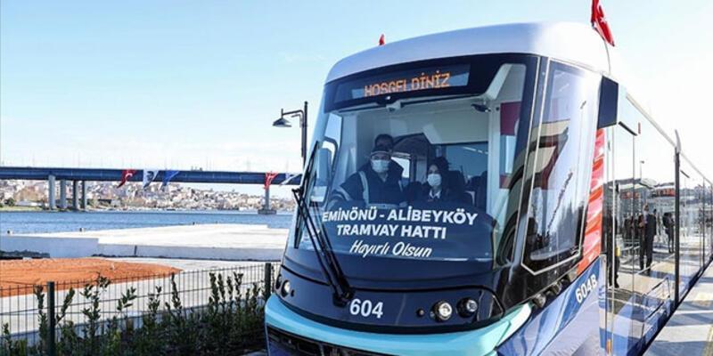 Eminönü-Alibeyköy Tramvay Hattı'nın ilk bölümü açıldı