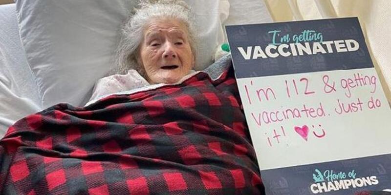 ABD'de koronavirüs aşısı yaptıran en yaşlı kişi 112 yaşında