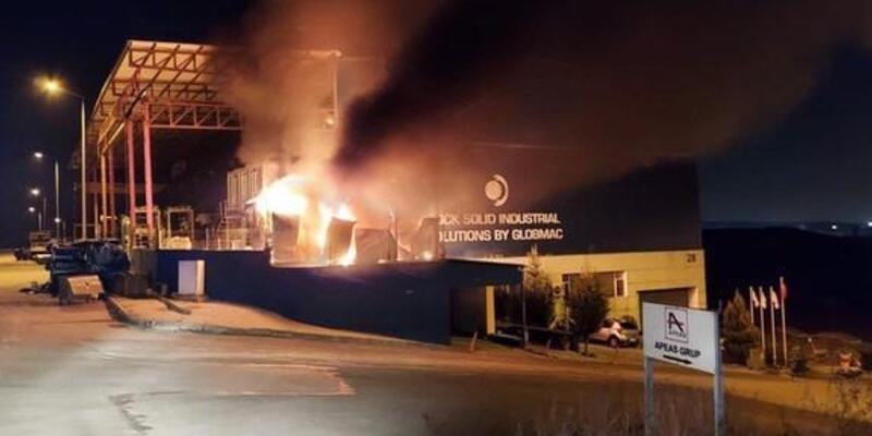 Ankara'da, fabrikada korkutan yangın!
