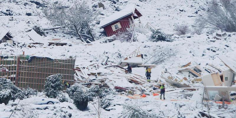 Norveç'teki heyelanda can kaybı 6'ya çıktı