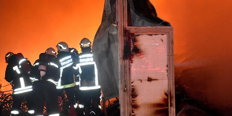 Kayseri'de fabrikada yangın!