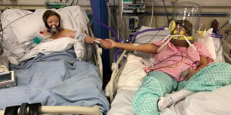 En acı an: Yanındaki yatakta annesinin COVID-19'dan ölümünü izledi