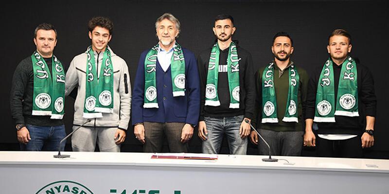 Son dakika... Konyaspor'dan 4 transfer birden!