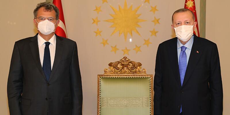 Cumhurbaşkanı Erdoğan, TÜSİAD Yönetim Kurulu Başkanı Simone Kaslowski'yi kabul etti