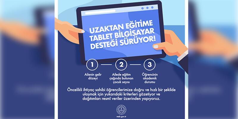 MEB'den, uzaktan eğitime tablet desteği