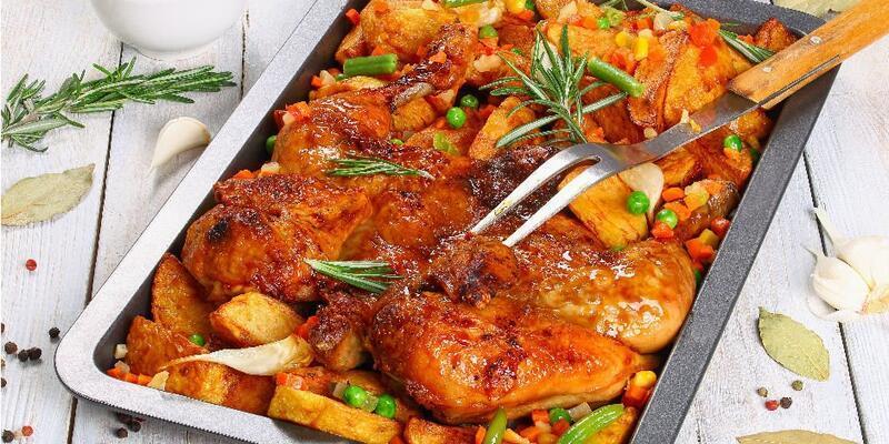 Fırında Sebzeli Tavuk Tarifi: Sebzeli Tavuk Fırında Nasıl Yapılır? Fırında Nasıl Kaç Derecede Pişer? En Güzel Sebzeli Tavuk Yapımı