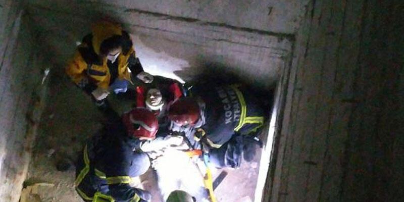 Asansör boşluğundan düşen 16 yaşındaki Zeynep, yaralandı