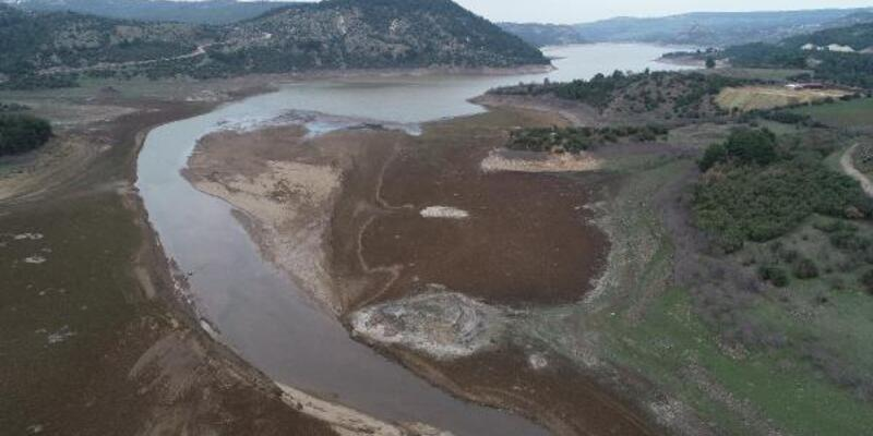 Kar yağışı Atikhisar Barajı'na can suyu oldu