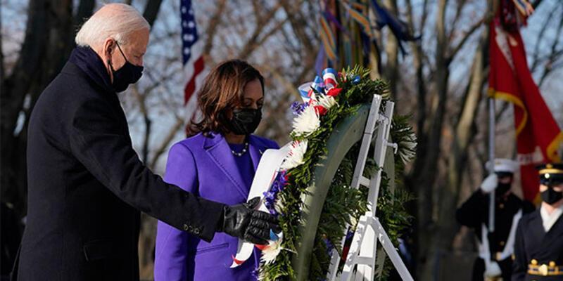 ABD Başkanı Biden, Meçhul Asker Anıtı'na çelenk bıraktı