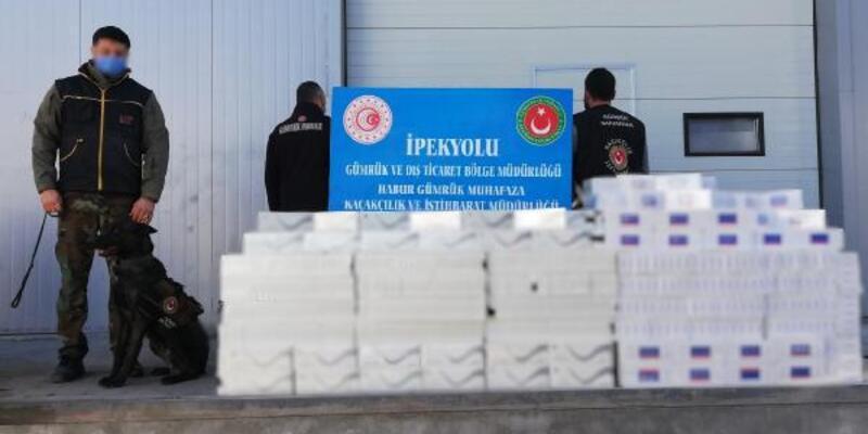 Habur Gümrük Kapısı'nda 29 bin paket kaçak sigara ele geçirildi